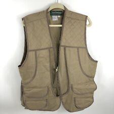 Avid Outdoors Hunting Vest Mens XL Tan Brown Duck Rabbit Shooting