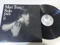 "Mari Trini Solo para Ti Hispavox 1978 Klappcover - LP vinyl 12 "" VG/VG"