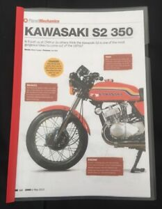 KAWASAKI S2 350 - 10 PAGE FILE feat BUYERS GUIDE / MODEL HISTORY