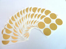 50mm GLOSS ORANGE Round Plastic Vinyl dot Stickers Colour Code Sticky Labels