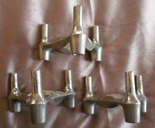 3 modules bougeoirs Nagels vintage en métal chromé