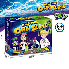 Glow In The Dark Slime Kit DIY Clear Crystal Putty Making Craft Toys for Kids