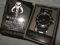 Men's Star Wars Warriors of Mandalore Boba Fett Bounty Hunter Wrist Watch Disney