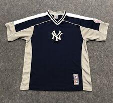 New York Yankees Majestic Jersey T-Shirt Size L Large Stitched Sewn