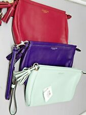 COACH Legacy Leather Large WRISTLET bag #48025 RED, PURPLE or Mint GREEN NWOT