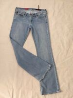 AG ADRIANO GOLDSCHMIED THE MERLOT WOMENS 29R LIGHT WASH DISTRESSED DENIM JEANS