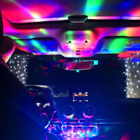 1PC LED Car USB Atmosphere Light DJ RGB Mini Magic Colorful Music Sound Lamp