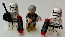 3 Minifiguras Lego Star Wars Obi Wan Kenobi (75173) 2 soldados de asalto (75165)