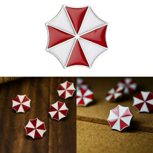 Resident Evil Theme Brooch Red Umbrella Breastpin Brooch Pin Badge Suit Buttons