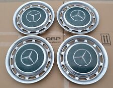 "1969-1983 Mercedes Benz 14"" Metal Wheel Hubcap Set of 4 Turqoise Green W113"