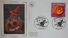 ENVELOPPE PREMIER JOUR - 9 x 16,5 cm - ANNEE 2001 - HALLOWEEN