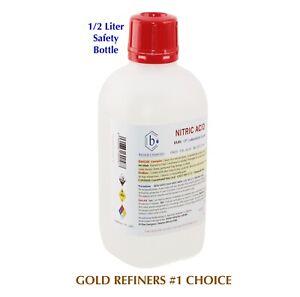 Bausch Nitric (HNO3) Acid 69.8% 1/2L CP Laboratory Grade Gold Silver Refining