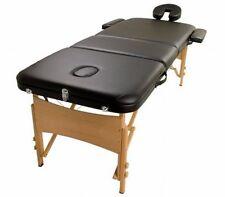 NEW Heavy Duty Professional Portable Adjustable 3 Fold Massage Table - Black