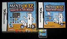 MIND QUIZ ESERCITA LA TUA MENTE Nintendo Ds Versione Italiana ••••• COMPLETO
