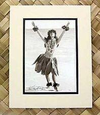 "Kim Taylor Reece ""Kuulei"" 8 X 10 Double Matted Hawaiian Hula Print - New"