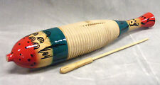 AP PERCUSSION Fish Style Wood Guiro w/ Scraper-NEW !