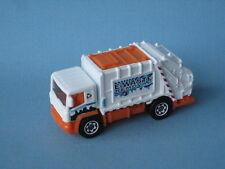 Matchbox Refuse Trash Garbage Truck White Body Recycle UB
