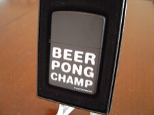 BEER PONG CHAMP BLURRED ZIPPO LIGHTER MINT IN BOX