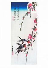 MOON SWALLOWS AND PEACH BLOSSOM REPRODUCTION WOODBLOCK PRINT BY ANDO HIROSHIGE