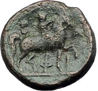 PHILIP V 220BC Macedonia RARE Genuine Ancient Greek Coin HERCULES & HORSE i62678