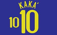 Kaka #10 Brazil World Cup 2010 Away Football Nameset for shirt