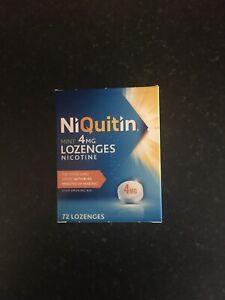 Niquitin Mint 4mg Lozenges Nicotine - 72 Lozenges. Exp 01/21