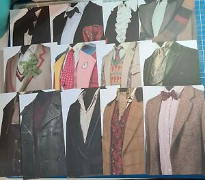 19pcs Doctor Who Outfits Postcards 1 to 12 + from The Doctor Who Experience