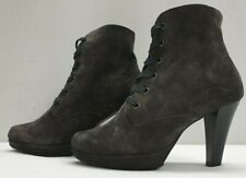 PAUL GREEN ladies womens olive real suede lace up ankle boots Size UK 3 EU 36
