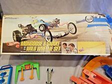 Vintage 1970 Redline Mattel Hot Wheels SNAKE & MONGOOSE WILD WHEELIE SET box