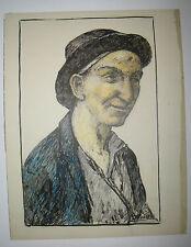 DESSIN original de GUSTAVE PIERRE - (Portrait d'homme) - SIGNE