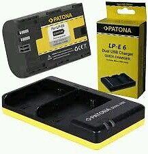 Dual Chargeur + 2x Batterie LP-E6 | LP-E6N pour Canon EOS 5D | 60D | 6D | 70D