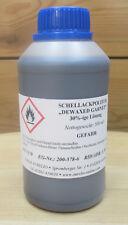 Schellackpolitur Dewaxed Garnet wachsfrei fertig - 0,5 Liter,french polish