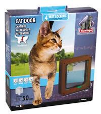 Karlie - Katzenklappe 4-way große Katze Mechanisch Katze x23.5cmx25.2cm braun