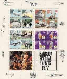 1977 BARBUDA SPECIAL EVENTS SOUVENIR SHEETLET OF MNH STAMPS