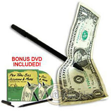 Pen Thru Bill Illusion with DVD Magician Trick Magic Tricks Amaze Perform Money