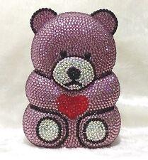 Multi-Color 3D Lovely Handmade Bear shaped Austrian Crystal Purse Cocktail Bag