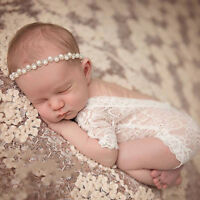 Sparkling Pearls Baby Girls Head Band Elastic Newborn Photography Accessories