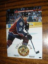 1996-97  Donruss #23  Claude Lemieux Colorado Avalanche Press Proof  NrMt