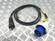 Ex MOD 230v / 240v 3 Pin Power Cable Lead Harness Generator Radio Power