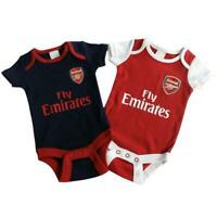 Arsenal FC Baby Kit 2 pack Vest /Body Suit  cotton 100% Official AFC