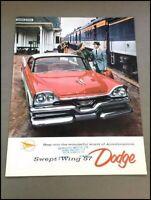 1957 Dodge Custom Royal Lancer Coronet BIG Vintage Car Sales Brochure Catalog