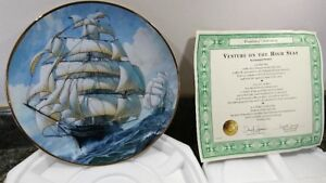 LIMITED EDITION 22CT GOLD PLATE CUTTY SARK VENTURE ON THE HIGH SEAS L PEARCE
