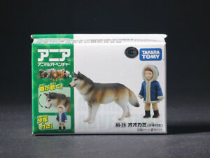 Takara Tomy AS-26 Animal Adventure Wolf With Boy Mini Action Figure