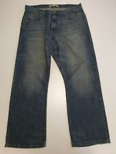 M562 MENS WRANGLER RELAXED BOOTCUT TORN FADED BLUE DENIM JEANS W38 L32