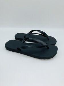 Havaianas Unisex Men Women Top Flip-Flops Slides , Black - choose size