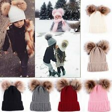 Kinder Baby Strickmütze Beanie Strick Mütze Hüte Hut Kappe Warme Winter Ski Cap