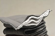 5x 5 Layer Washable Baby Cloth Diaper Microfiber Bamboo Charcoal Insert _BH