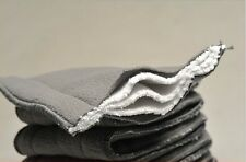 5x 5 Layer Washable Baby Cloth Diaper Microfiber Bamboo Charcoal Insert US