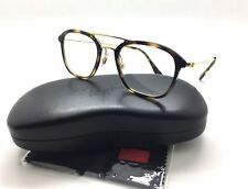 27a5e71753d Ray-Ban Spotted Tortoise Eyeglasses Frame Metal RB 7098 2012 50mm Square