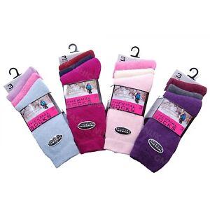 3 Pairs Ladies Womens Black Thermal Socks Winter Warm Hiking Ski Walking Boots